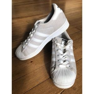 Adidas Superstar Fabric - Gray and White